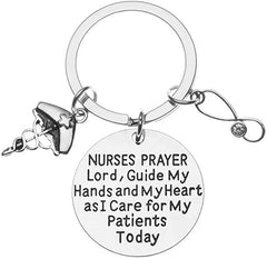 nurse prayer keychain - nurse gift