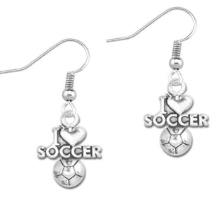 I Love Soccer Earrings - Infinity Collection