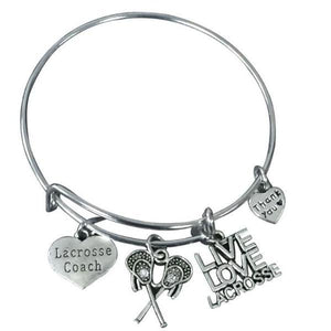 Lacrosse Coach Bangle Bracelet - Infinity Collection