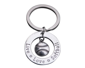 Live Love Softball Keychain - Infinity Collection