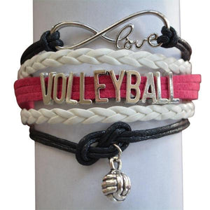Volleyball Infinity Bracelet- Pink - Infinity Collection
