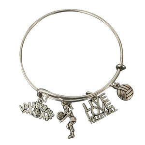 Volleyball Mom Bangle Bracelet - Infinity Collection