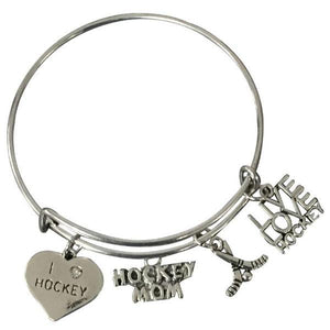 Hockey Mom Bangle Bracelet - Infinity Collection