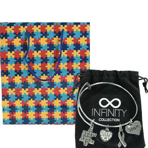 Autism Mom Bracelet & Gift Bag - Infinity Collection