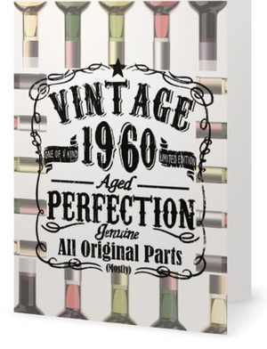 Products 60th Birthday Card - Vintage 1960 Aged to Perfection