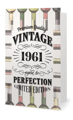 60th Birthday Card - Vintage 1961 Aged to Perfection