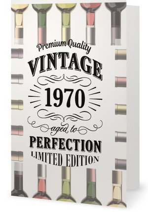 50th Birthday Card - Vintage 1970 Aged to Perfection