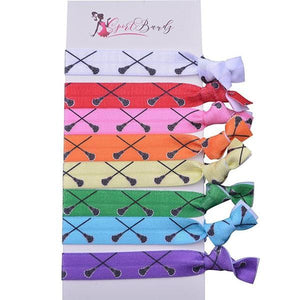Lacrosse Hair Ties Set- Multi Colored - Infinity Collection