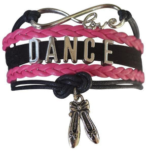 Dance Bracelet- Girls - Pink Black - Infinity Collection