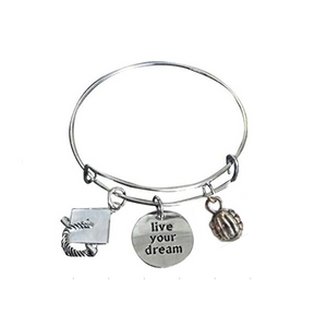 Volleyball Graduation Bangle Bracelet - Infinity Collection