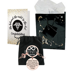 Nurse Prayer Keychain & Card Gift Bag Set - Infinity Collection