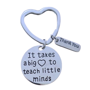 Teacher Big Heart Keychain - Infinity Collection