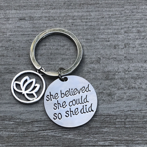 Yoga Lotus Inspirational Keychain - Infinity Collection