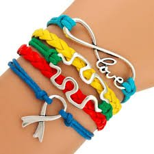 Autism Bracelet, Autism Awareness Jewelry, Autism Puzzle Piece Bracelet Makes the Perfect Gift - Infinity Collection