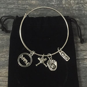 Baseball Mom Bracelet - Silver - Infinity Collection