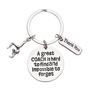 Infinity Collection Gymnastics Coach Keychain, Gymnastic Coach Gift, Great Coach is Hard to Find But Impossible to Forget Coach Keychain - Infinity Collection