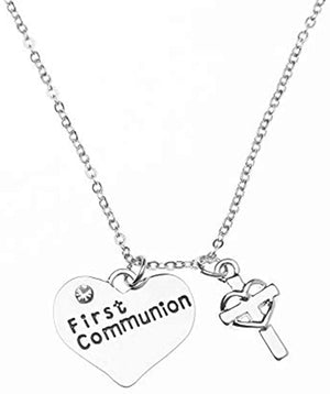 First Communion Necklace, First Communion Gifts, First Communion Jewelry- Cross Necklace- Makes The Perfect Gift for 1st Communion - Infinity Collection