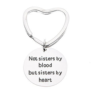 Best Friends Keychain- Not Sisters By Blood But Sisters By Heart Keychain- Friend Jewelry- Perfect Gift for Friends - Infinity Collection