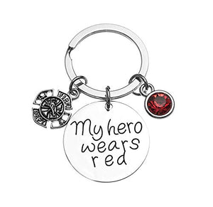 Firefighter Keychain, My Hero Wears Red - Infinity Collection