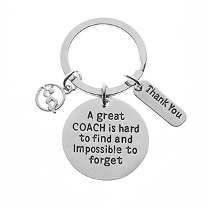 Swim Coach Keychain, Swimming Coach Gifts, Great Coach is Hard to Find Coach Keychain - Infinity Collection