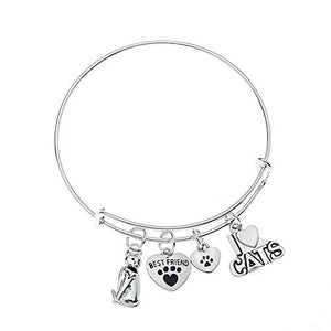 Cat Charm Bracelet - Infinity Collection