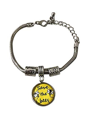 Infinity Collection Bee Bracelet, Honey Bee Jewelry, Save The Bees Bracelet, Help Save The Honeybees Awareness Jewelry, Save The Planet Charm Jewelry Giftm Bangle Bracelet - Infinity Collection