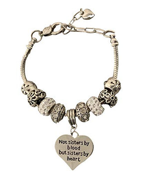 Best Friends Bracelet- Not Sisters by Blood But Sisters by Heart Charm Bracelet for Women, Friend Jewelry for Friends - Infinity Collection