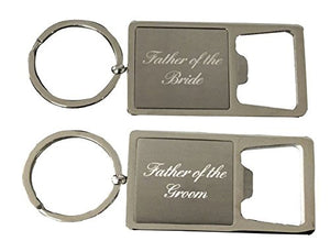 Infinity Collection Father of the Bride & Groom Stainless Steel Bottle Opener Keychain, Perfect Wedding Party Gift for Father of the Bride or Groom - Infinity Collection