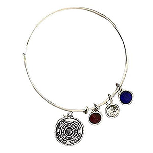 US Coast Guard Academy Gifts, Coast Guard Charm Bangle Bracelet, for Women - Infinity Collection