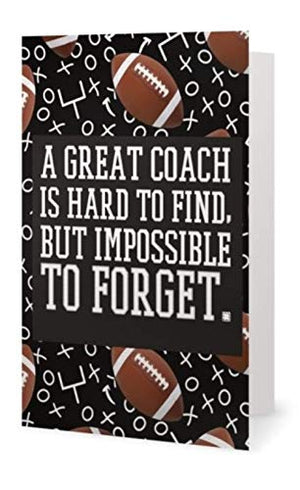 Football Coach Card, Great Coach is Hard to Find and Impossible to Forget, Football Coach Gift - Infinity Collection