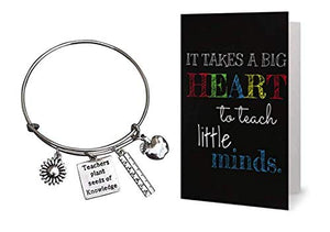 Teacher Bracelet and Card Gift Set - Infinity Collection