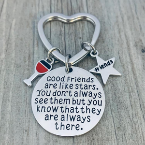 Best Friends Keychain-Good Friends Heart Keychain- Friend Jewelry- Pick Charm - Infinity Collection