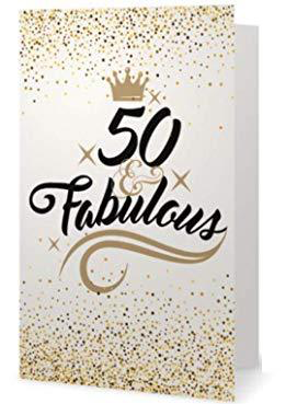50th Birthday Card - Fabulous and Fifty - Infinity Collection