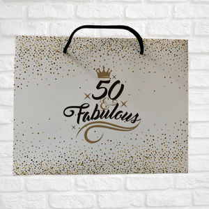 50th Birthday Gift Bag - Fabulous and Fifty