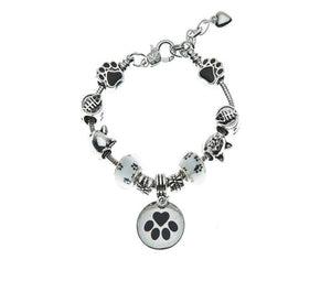 Cat Bracelet, Cat Jewelry, Paw Print Jewelry- Cat Lovers Bracelet-Cat Owner Bracelet -Perfect Gift for Cat Lovers - Infinity Collection