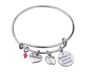 Mom Bracelet, Mom Daughter Charm Bracelet, Mother Bracelet Makes the Perfect New Mom Gift, Baby Shower Gift or Baby Gift - Infinity Collection
