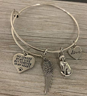 Cat Memorial Bracelet, Custom Cat Charm Jewelry - Cat Jewelry- Cat Lovers Bracelet- Cat Owner Bangle -Perfect Gift for Cat Lovers - Infinity Collection