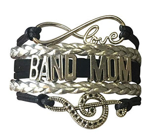 Infinity Collection Band Mom Bracelet, Band Mom Gift, Music Bracelet - Marching Band Jewelry - Perfect Band Mom Jewelry Gift - Infinity Collection