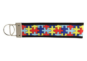 Autism Awareness Keychain - Autism Jewelry, Puzzle Piece Keychain - Infinity Collection