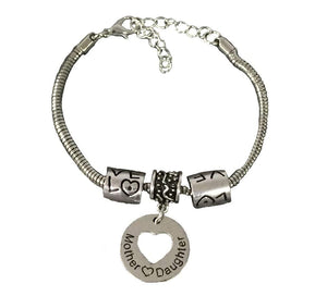 Infinity Collection Mother Daughter Bracelet - Mother Daughter Heart Jewelry- Perfect Gift for Mom or Daughter