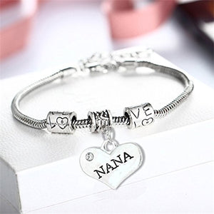 Nana Bracelet - Nana Jewelry- Nana Charm Bracelet, Perfect Gift for Nana - Infinity Collection
