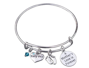 Mom Bracelet, Mom Son Charm Bracelet Makes the Perfect New Mom Gift, Baby Shower Gift or Baby Gift - Infinity Collection