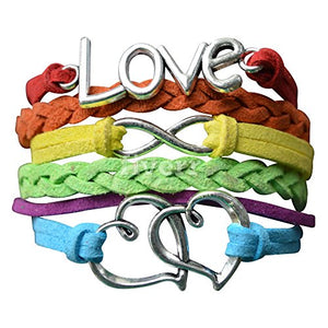 LGBT Bracelet, Lesbian Pride Jewelry, Rainbow Pride Bracelet & Perfect Lesbian Gifts - Infinity Collection
