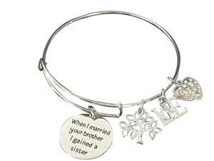 Sister-in-Law Bracelet- Sister By Marriage Friends by Choice, Sister in Law Gifts, Sister in Law Jewelry