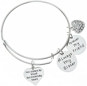 Friend Bracelet- Not Sisters By Blood But Sisters By Heart Jewelry- Perfect Gift for Friends - Infinity Collection