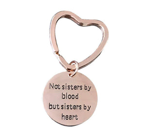 Infinity Collection Best Friends Keychain- Not Sisters By Blood But Sisters By Heart Keychain- Friend Jewelry- Perfect Gift for Friends - Infinity Collection