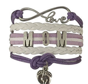 Mom Bracelet, Mom Jewelry, Makes the Perfect New Mom Gift, Baby Shower Gift or Baby Gift - Infinity Collection