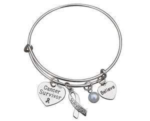 Cancer Survivor Bracelet, Cancer Awareness, Makes the Perfect Cancer Survivor Gift - Infinity Collection