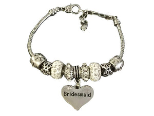 Bridesmaid Bracelet, Bridesmaid Charm Bracelet, Bridesmaid Jewelry, Bridal Party Gift for Bridesmaids - Infinity Collection