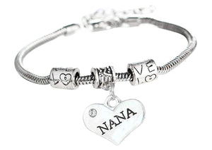 Nana Bracelet - Nana Jewelry- Nana Charm Bracelet, Perfect Gift for Nana